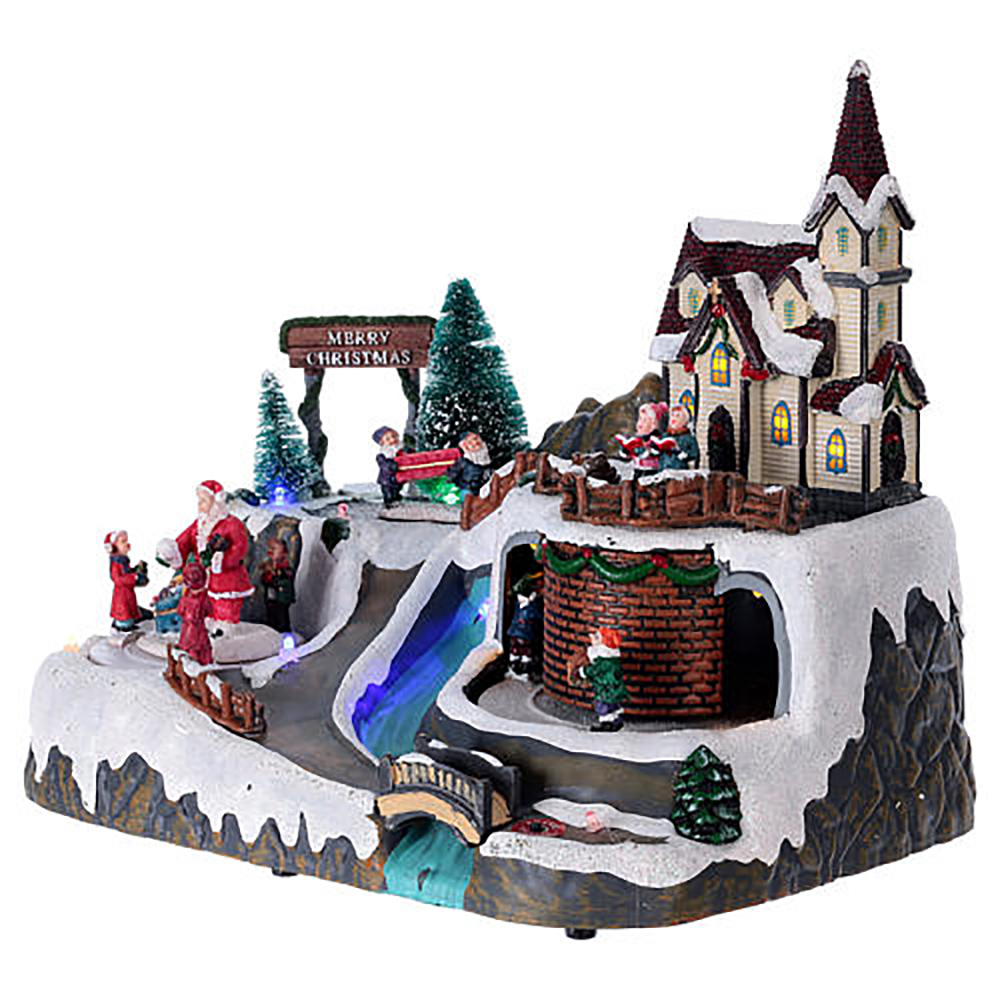 resin village music christmas village houses resin